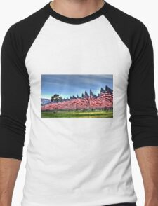 911 Flag Memorial: USA Men's Baseball ¾ T-Shirt