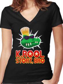 K.ROOL STORY BRO Women's Fitted V-Neck T-Shirt