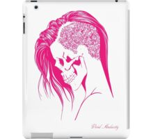 PINK PUNK SKULL GIRL iPad Case/Skin