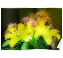 Yellow Lilies Orton Effect Poster