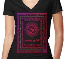 OGji Women's Fitted V-Neck T-Shirt