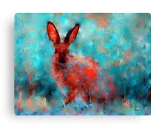 wild rabbit Canvas Print