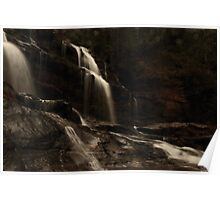 First Light at Long Creek Falls Poster