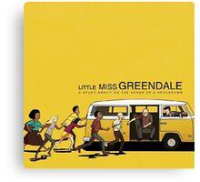 Little Miss Greendale  Canvas Print