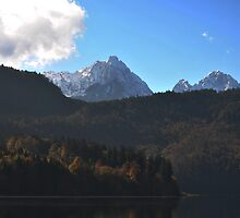 View of the Austrian Alps by bwatt