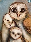 three wise owls by © Karin Taylor