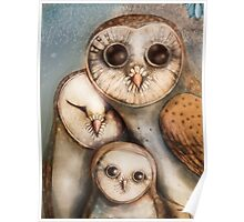 three wise owls Poster