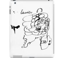 monochrome doodle iPad Case/Skin