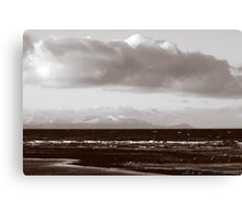 Across To Arran From Ayrshire Scotland Canvas Print