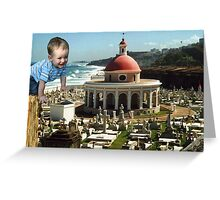 Toddler Invades Puerto Rico Greeting Card