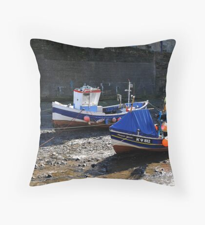 Staithes- North Yorkshire Coast Throw Pillow