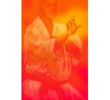 Male martial artist focuses on kata Photographic Print