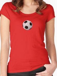Soccer Kid- Football Team T-Shirt Sticker Duvet Women's Fitted Scoop T-Shirt