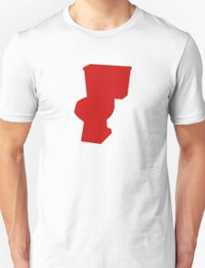 Red Toilet Unisex T-Shirt
