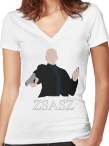 Victor Zsasz Women's Fitted V-Neck T-Shirt
