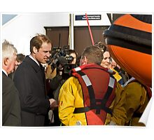 Prince William and Catherine meet the crew. Poster