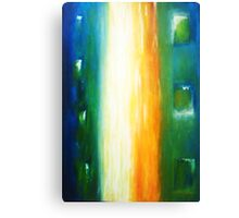Fine White Line - Abstract Canvas Print