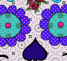 Day of the Dead Sugar Skull Purple Eyes Sticker