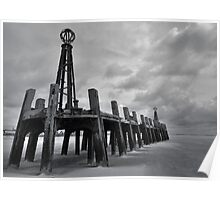 LYTHAM OLD PIER, BLACKPOOL Poster