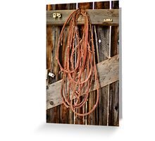 Barn rope Greeting Card