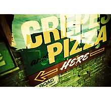 Pizza sign in London Photographic Print