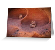 Double cairn Greeting Card
