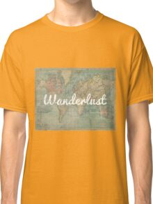 wanderlust on vintage map Classic T-Shirt