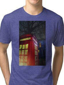 London Tardis Tri-blend T-Shirt