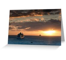 Sailing Into The Sunset 1 Greeting Card