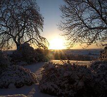 Snowy Sunrise - South Dartmoor by moor2sea