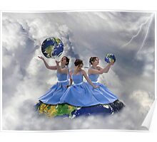 We got the whole world in our hands. Poster