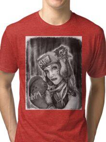 "MsTruise as ""Boxer Girl"" Tri-blend T-Shirt"