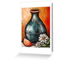 Blue Pottery Greeting Card