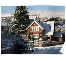 Sunny Snowy Inner Lodge - Moorhaven, South Dartmoor Poster