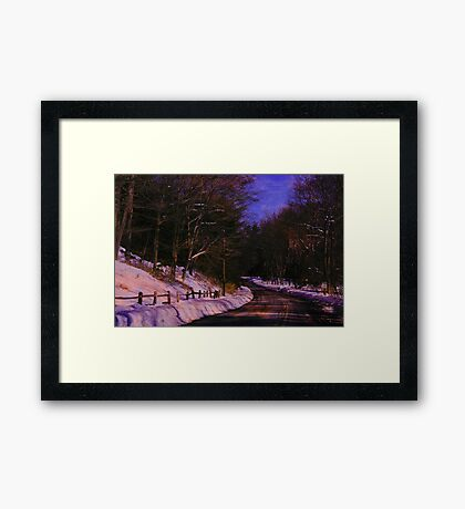 Whispers of a storm brewing Framed Print