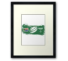 South Africa Rugby World Cup Supporters Framed Print