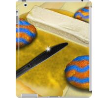 Melted Margerine and Three Blue Stiped Biscuits iPad Case/Skin