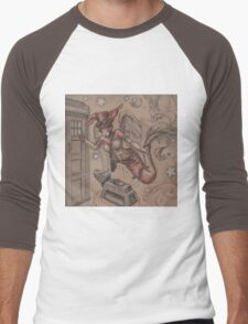 ComicCon Winged Merbunny Men's Baseball ¾ T-Shirt