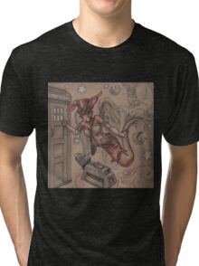 ComicCon Winged Merbunny Tri-blend T-Shirt