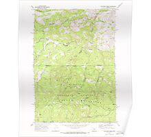 USGS Topo Map Oregon Dutchman Creek 279736 1968 24000 Poster
