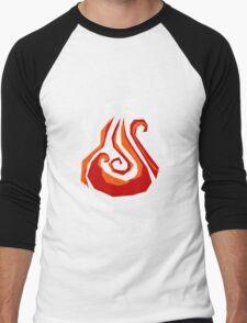 Elementals-Fire Men's Baseball ¾ T-Shirt