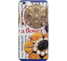 Let it just be a flower ~ Collage by Chaussé iPhone Case/Skin