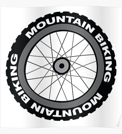 Mountain Bike Wheel Poster