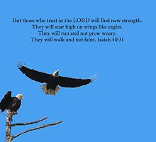 Wings Like Eagles Isaiah 40:31 by hummingbirds