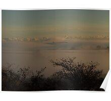Foggy Floating Fields - South Hams, Devon Poster