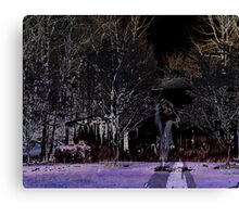 Eerie Midnight Wanderer Canvas Print
