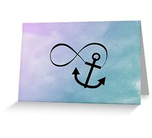 Blue Anchor Forever Greeting Card