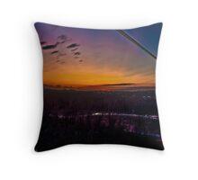 Sunset Riverbank Throw Pillow