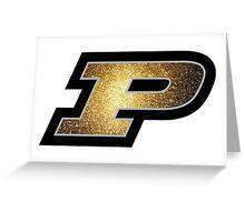 Purdue P Gold Galaxy Greeting Card
