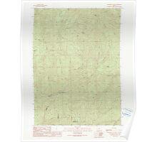 USGS Topo Map Oregon Dutchman Butte 279734 1990 24000 Poster